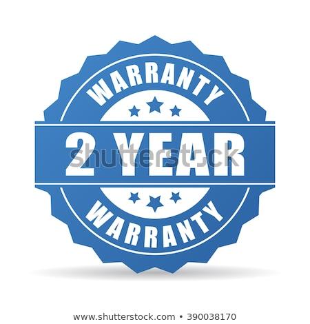 Año garantía azul vector icono botón Foto stock © rizwanali3d