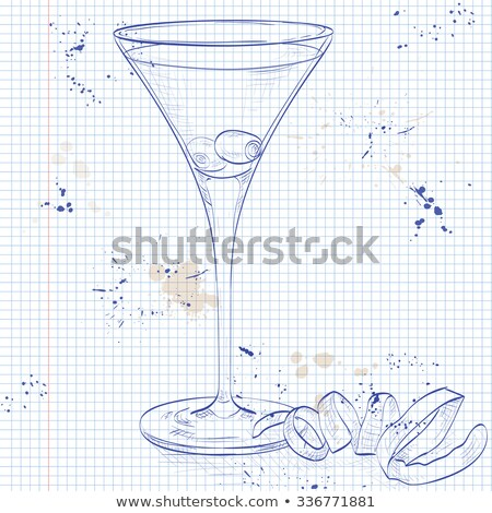 Cocktail Dirty Martini on a notebook page Stock photo © netkov1