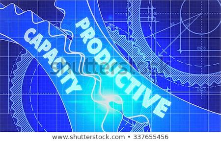 Produtivo capacidade diagrama engrenagens técnico desenho Foto stock © tashatuvango