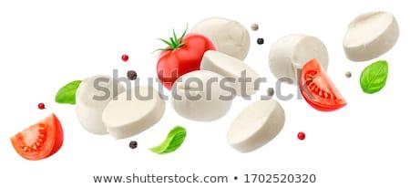 frescos · mozzarella · queso · madera · blanco - foto stock © Digifoodstock