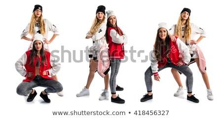 hip-hop and pretty girls posing 2 Stock photo © Paha_L
