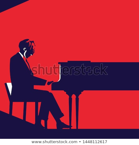 Vector of man playing piano. Stock photo © Morphart