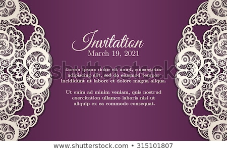 Vintage viola invito coprire crema pizzo Foto d'archivio © liliwhite