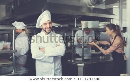 испанский повар баннер прибыль на акцию 10 файла Сток-фото © elgusser