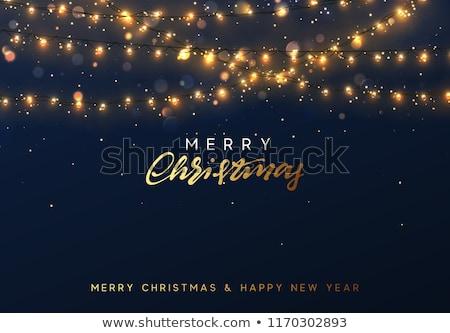 neşeli · Noel · happy · new · year · bokeh · ren · geyiği · kart - stok fotoğraf © rommeo79
