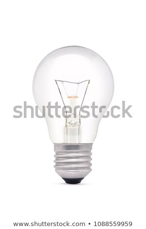Yellow lightbulb isolated on white [with clipping path] Stock photo © shutswis