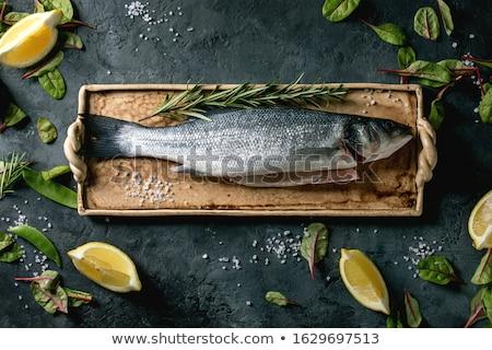 Sea salt in a ceramic bowl Stock photo © Digifoodstock