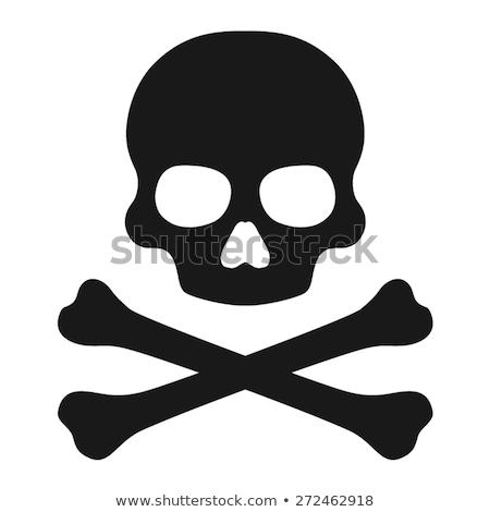 Stock photo: skull bone icon