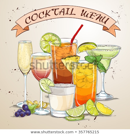 New Era Drinks Coctail menu Stock photo © netkov1