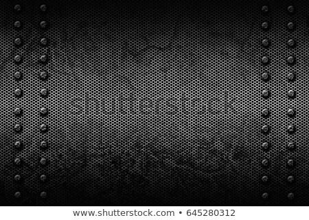 Fém fal fekete textúra háttér keret Stock fotó © deyangeorgiev