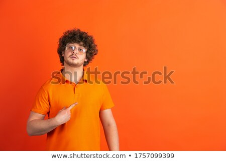 Stockfoto: Jonge · man · trots · vector · ontwerp · illustratie · geïsoleerd