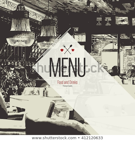 Menu cover for restaurant stock photo © samado