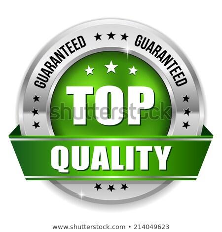 Top Quality Green Seal Vector Icon Stock photo © rizwanali3d
