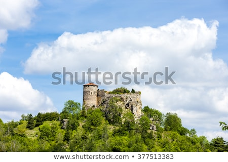 Busseol Castle, Puy-de-Dome Department, Auvergne, France Stock photo © phbcz