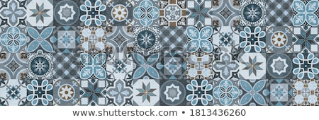 Stock photo: ceramic tiles on the wall