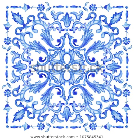 Portuguese glazed ceramic tiles Stock photo © homydesign