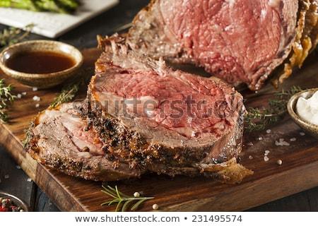 Raw organic Roast beef Stock photo © Klinker