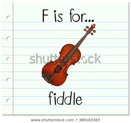 Flashcard letter F is for fiddle Stock photo © bluering