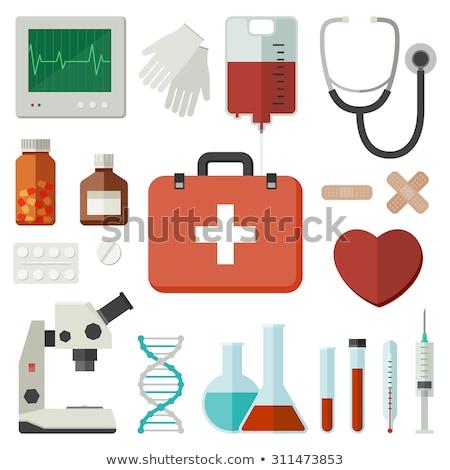 Photo stock: Médicaux · objets · équipement · icônes · illustration · isolé