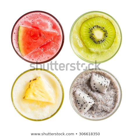 top view of fresh watermelon slices stock photo © stevanovicigor