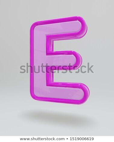 izzó · neon · rózsaszín · ábécé · használt · minta - stock fotó © bluering
