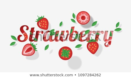 Letters of the alphabet in strawberry template Stock photo © bluering