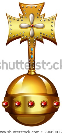 Golden orb with gems Stock photo © bluering