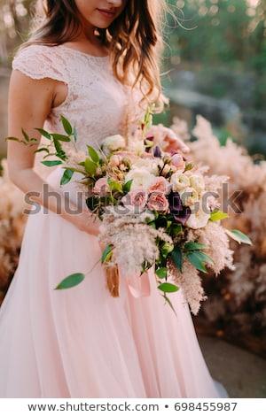 Stockfoto: Mooie · brunette · bruid · bruiloft · portret