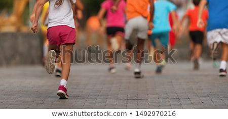 Running kids Stock photo © bluering