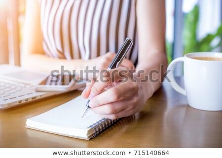 Writer taking notes Stock photo © RAStudio