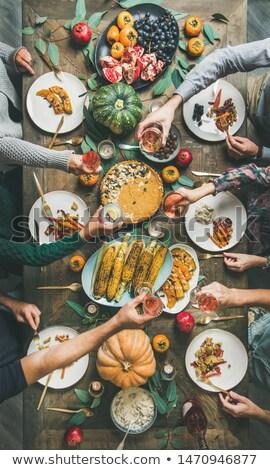 Pumpkin pie on the  wooden table vertical Stock photo © Karpenkovdenis