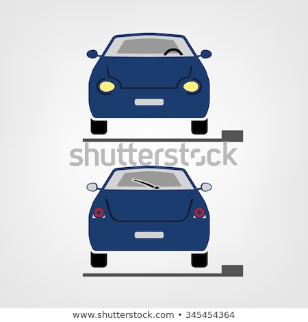 Araba yüz clipart görüntü gülümseme dizayn Stok fotoğraf © vectorworks51