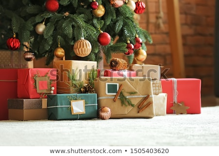 Pile of Christmas gifts under the tree Stock photo © ozgur