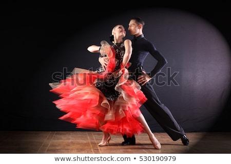 девушки · танцовщицы · танго · платье · красивой - Сток-фото © sumners
