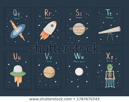 flashcard letter s is for space stock photo © bluering