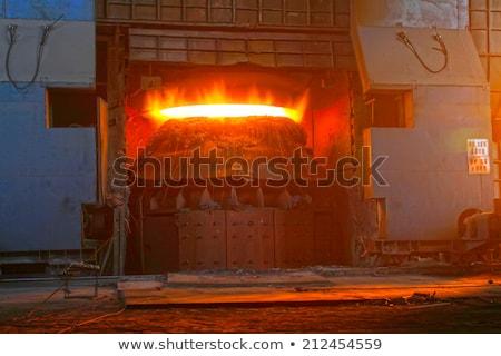 Aço enchimento quente materiais paisagem luz Foto stock © mady70