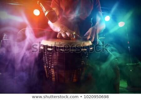 perkusja · odizolowany · biały · zestaw · tle · sztuki - zdjęcia stock © saphira