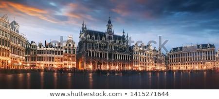 Arquitetura histórica monumentos Bruxelas Bélgica céu casa Foto stock © artjazz