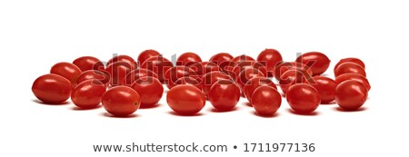 Rosso prugna pomodori fresche vetro piatto Foto d'archivio © Digifoodstock