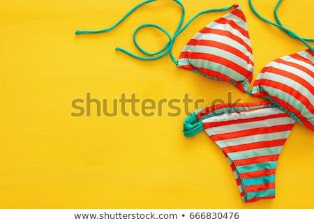 моде девушки купальник пляж женщину Sexy Сток-фото © deandrobot