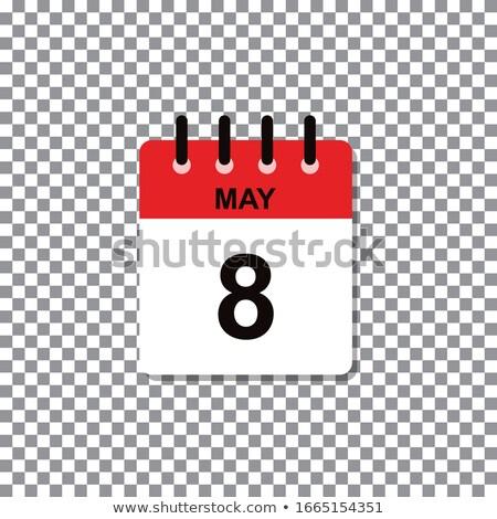 Kalendarza pojednanie świat czerwony krzyż czerwony Zdjęcia stock © Oakozhan