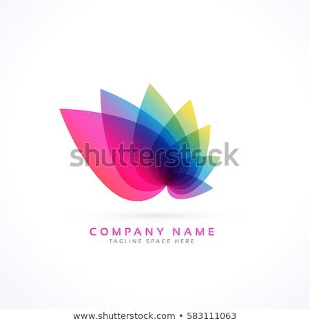 vibrante · flor · diseño · de · logotipo · negocios · color · moderna - foto stock © sarts