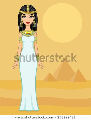 Egyiptomi hercegnő sivatag portré fiatal nő luxus Stock fotó © artfotodima
