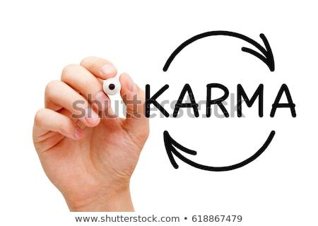 karma cycle arrows concept stock photo © ivelin