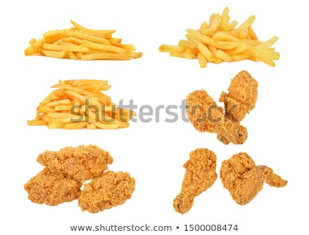 fried chicken leg and french fries Stock photo © M-studio