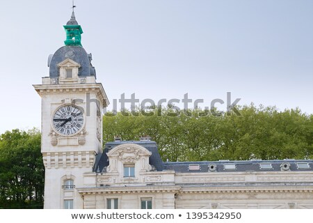 Clock tower of Bayonne train station. Aquitaine, France Stock photo © Photooiasson