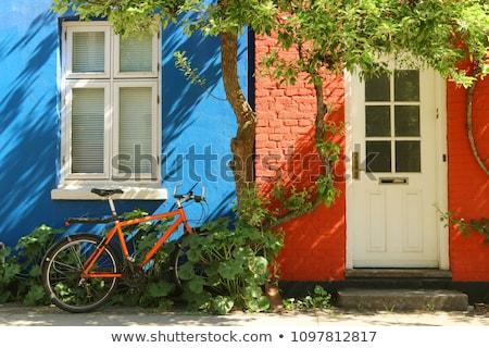 Téglafal külső épület homlokzat felület háttér Stock fotó © stevanovicigor
