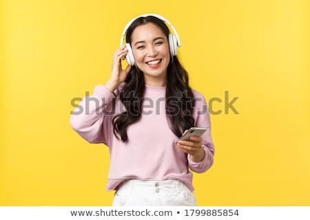 słuchać · emocje · kolorowy · Fotografia · sexy · emocjonalny - zdjęcia stock © fisher