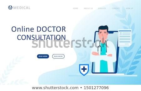 Arts overleg medische diensten icon ontwerp Stockfoto © WaD