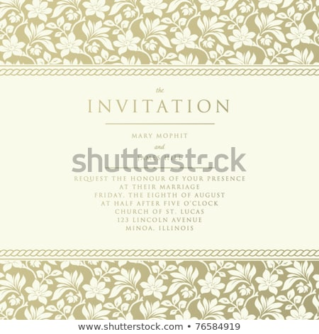 Letterpress Wedding Invitation Design Template Stock photo © reftel